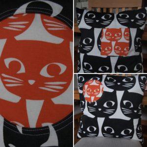 Katzenliebe: Kissenhüllen mit Katzenköpfen