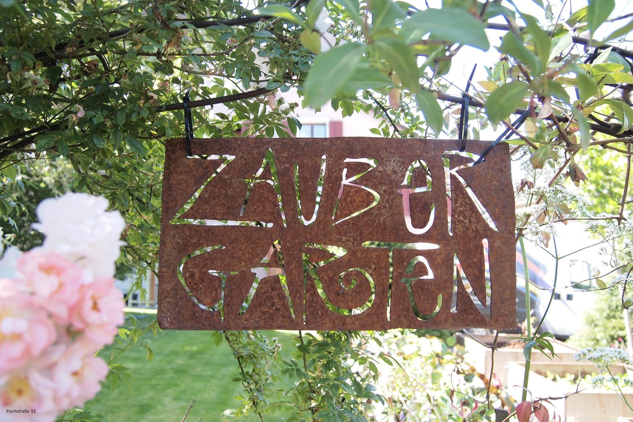 Schild Zauber Garten