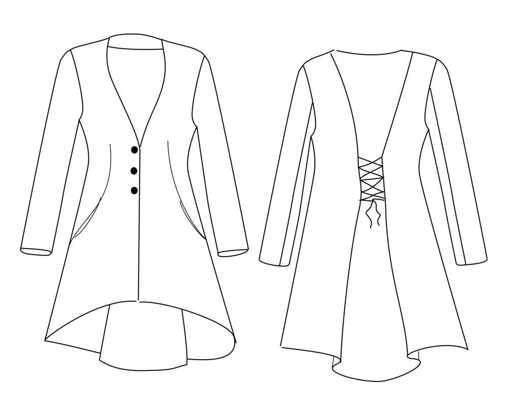 8fca5075d9 Im Januar rief Margarete von Zwischenmass erneut zum Probenähen auf: eine  Jacke mit Schnürung. Die technische Zeichnung gefiel mir auf Anhieb und das  sollte ...